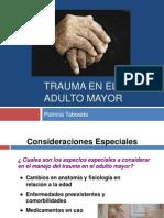 Trauma en El Adulto Mayor
