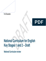 Draft National Curriculum for English Key Stages 1 2 11 June 2012 4