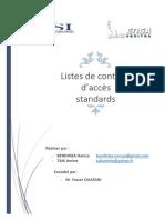 Liste Controle d AccesListes de contrôle d'accès standards