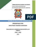 Informe de Practicas i 21 de Julio 2014
