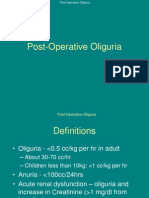 Post-op Oliguria