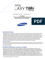 Samsung Galaxy Tab 7.0 Plus User Manual