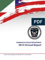 BURNSVILLE MINNESOTA POLICE DEPARTMENT  2013 Annual Report