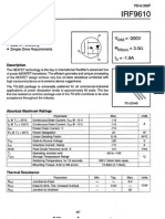 IRF9610 Power MOSFET