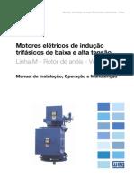 WEG Motor de Inducao Trifasico de Baixa e Alta Tensao Rotor de Aneis Vertical 11299500 Manual Portugues Br