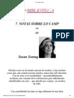Susan Sontag - Notas Sobre Lo Camp