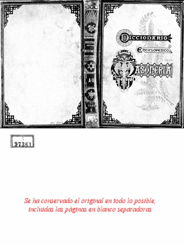 Abrines Frau - Diccionario Enciclopedico de La Masoneria (Tomo I - AO) 099ab670ba6