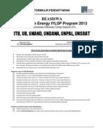 IYLSP2013 - Formulir Pendaftaran