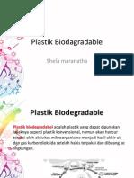Plastik Biodagradable