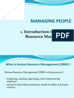 1 Intro to HRM