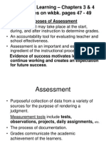 Assessing Learning - Chapters 3 & 4