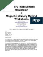 Memory Improvement Master Plan and Worksheets