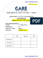 Ce6311 Survey Lab Manual