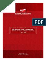 Programa de Gobierno -Otto Guevara