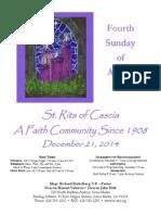 Saint Rita Parish Bulletin 12/21/2014