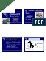 Diesel Control Options for in Use Diesel Vehicles