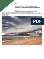 Apocalyptic Storm Over Sydney