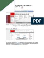 Configuración de Variables Para Compilar y Ejecutar Programas Java