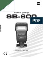 SB-600 Instruction Manual