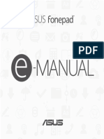 Asus FonePad 7 FE170CG Manual