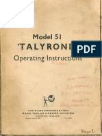 Talyrond 51 Operating Instructions