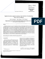 Spatial Decision Support Systems an Overview of Technology and a Test of Efficacy