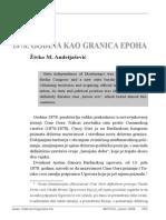 Živko Andrijašević - 1878. Godina Kao Granica Epoha