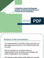 Utilization of Repetitive Surge Oscillograph (RSO)