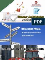 Clase Planear Actividades Tema 3er Parcial Recursos Humanos