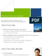 01 - Introduction to Relational Data in the Windows Azure Platform