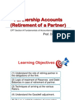 Retirement of a Partner