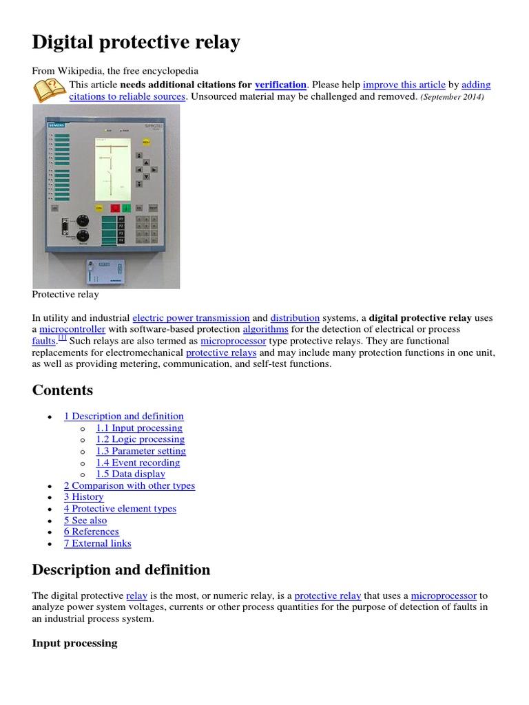 Electrical Protection Relay Types Description Unique System Vignette Diagram Ideas