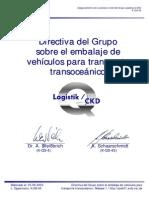 Directiva del Grupo sobre el embalaje de vehículos para transporte trasoceánico