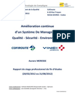 Amelioration Continue SMQSE Cofiroute ST02 MERESSEAurore 04062012 V0