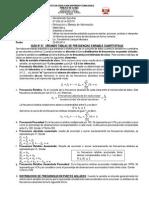 GUIA Nº 07 Tablas de Frecuencias Variable Cuantitativas