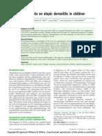 2014 Update on Atopic Dermatitis in Children.12
