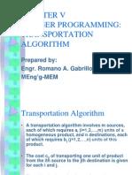 Transportation Algorithm