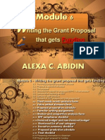 Writing the Grant Proposal that gets Funding