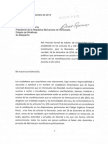 Solicitud de Indulto Presentada en Palacio de Miraflores