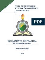 Reglamento de Práctica Pre-profesional Del Iestpb