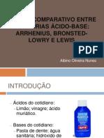Estudo Comparativo Entre as Teorias Acido-base