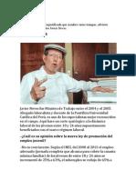 HABLA Javier Neves sobre Ley pulpin