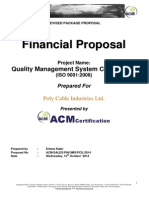 Revised Financial Proposal Including Consultation Service - Poly Cable Industries Ltd.