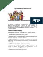 Funciones de Las Vocerias Del Consejo Comunal