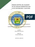Auditoria de Gestion a Los Procedimientos de Control de Plagas en Empresas Alimenticias Aplicados Por Fumieco Control CIA Ltda