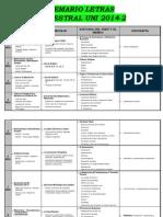 Temario Letras 2014-2 Semestral
