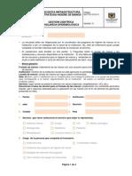 GCF-FO-315-011 Encuesta Infraestructura Estrategia Higiene de Manos