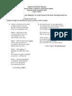 Subiect Si Barem Cls 8 - 2014