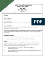 January 5, 2015 Draft Agenda Outline