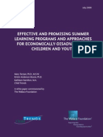 Effective and Promising Summer Learning Programs